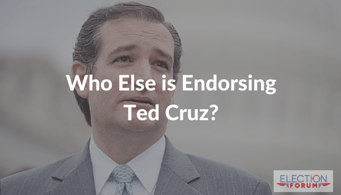 Who else is endorsing Ted Cruz?