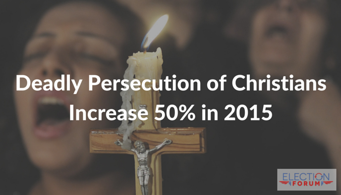 Deadly Persecution of Christians Increase 50% in 2015