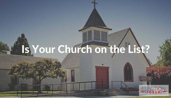 is your church on the list