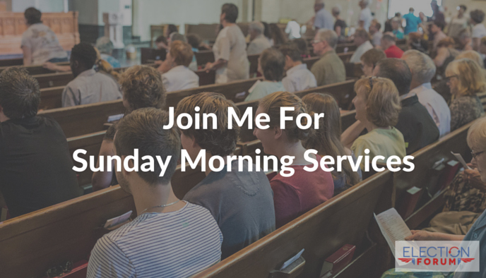 Join Me For Sunday Morning Services