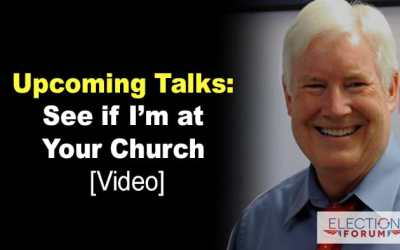 Upcoming Talks: See if I'm at Your Church [Video]