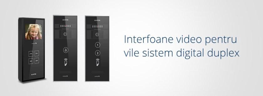 Interfoane video Electra Instal pentru vile sistem digital duplex