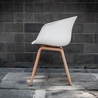 White Scandinavian Chair - Electra Exhibitions