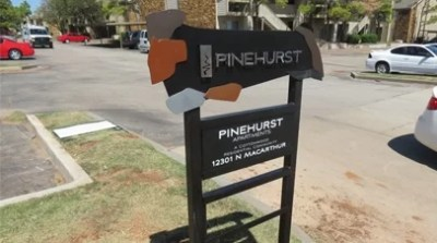 Custom Entrance Sign for Pinehurst Apartments