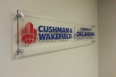 Commercial Oklahoma Lobby Sign