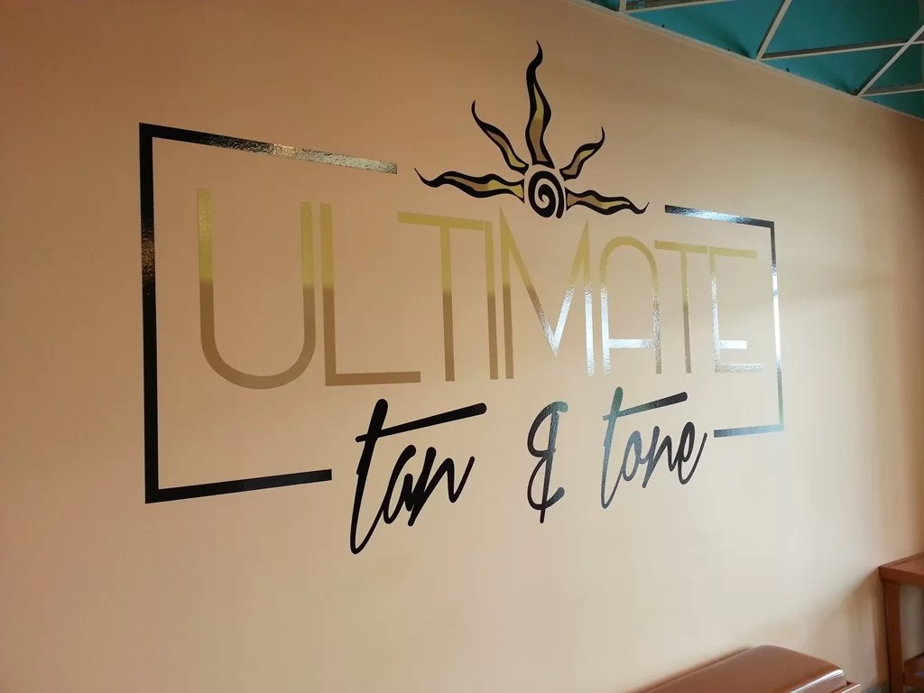 Logo Wall Graphics For Ultimate Tan Amp Tone