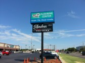 Picture of newly installed pole and cabinet sign for Schardein & Co. salons in Oklahoma City.