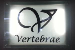 Vertebrae-reception-acrylic-sign