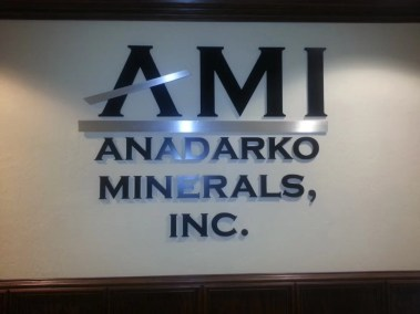 Front view of interior wall sign after installation.