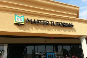 Picture of new storefront sign for Master Tutoring Wall.