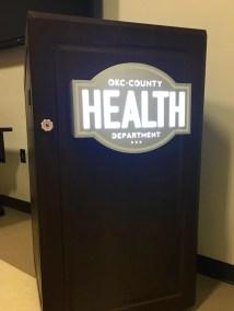 OKC Health Department Podium Sign