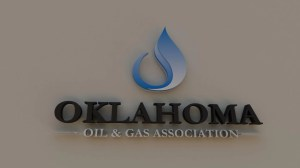 Wall sign for Oklahoma Oil & Gas Association.