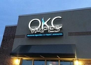 OKC Vapes - Edmond Location Sign