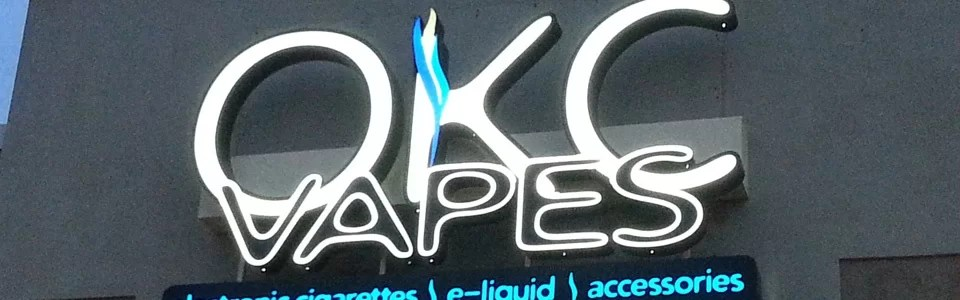 OKC Vapes Logo Signs – Edmond Store