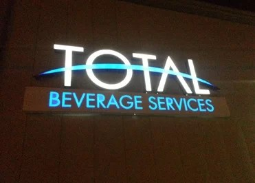 Total Beverage Logo Sign