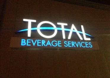 Total Beverage Logo Sign