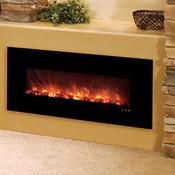 "40"" Slim Fire Electric Fireplace (No Heat Model), Black ..."