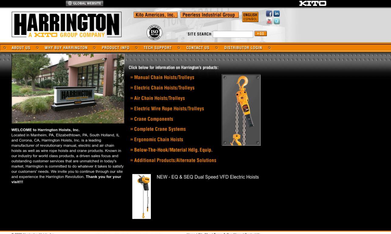 hight resolution of harrington hoists inc