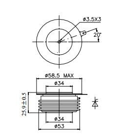 Ceramic Insulator Thyristor Phase Control For DC Motor Control