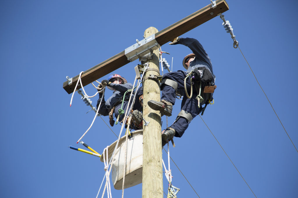 Family Fraternity at Linemans Rodeo  Americas Electric