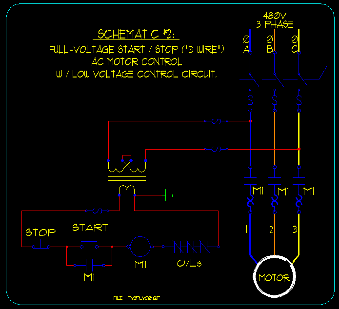 start stop wiring diagram tempstar heat pump basic ac motor control schematics ecn electrical forums linked image