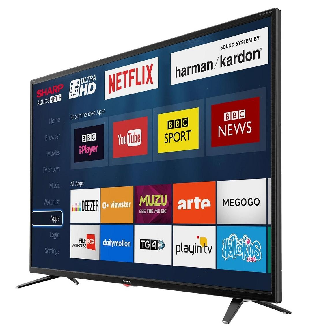Sharp LC-40UI7352K 40 Inch SMART 4K Ultra HD HDR LED TV Freeview HD USB Record   Electrical Deals