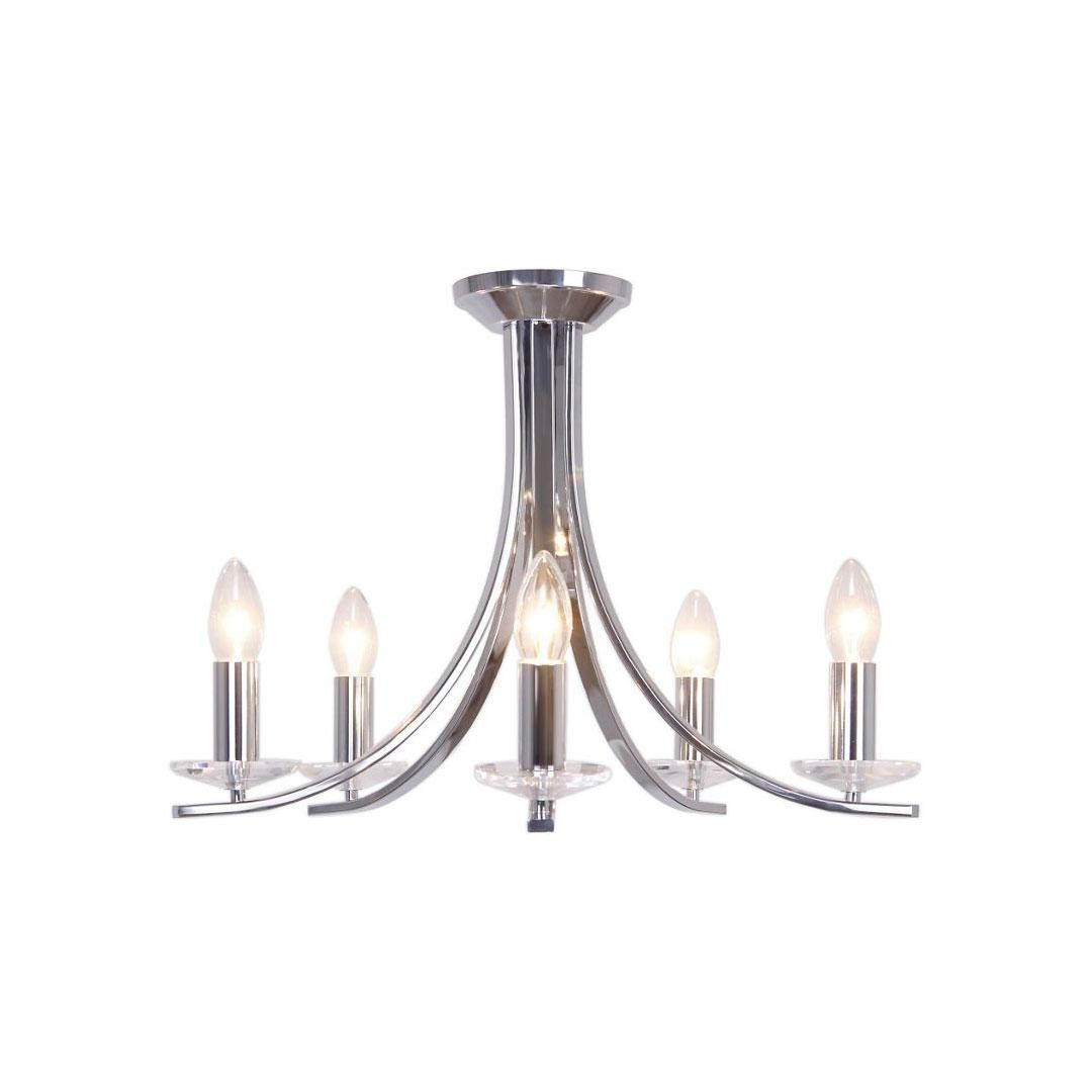Debenhams Home Collection Skylar Silver Chandelier Flush
