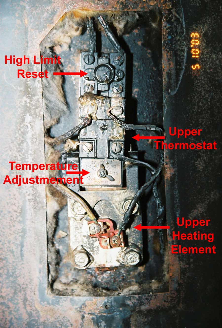 hight resolution of hot water tank upper controls