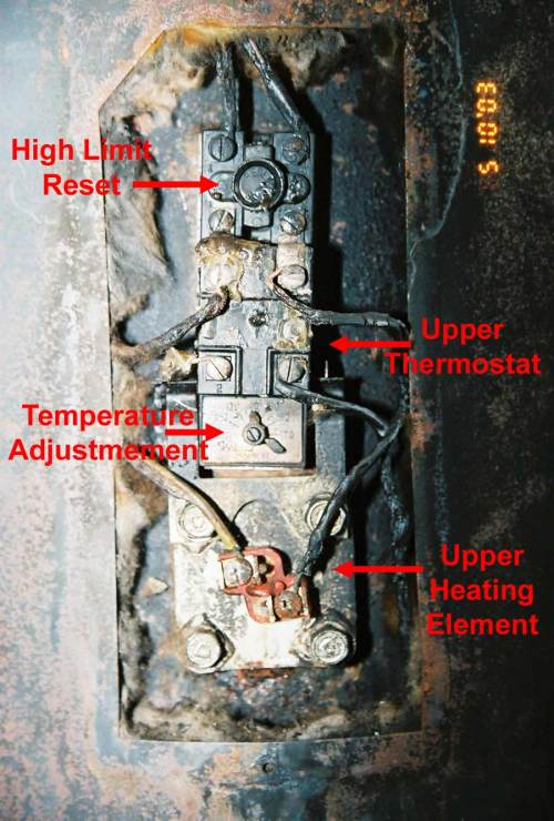 small resolution of hot water tank upper controls