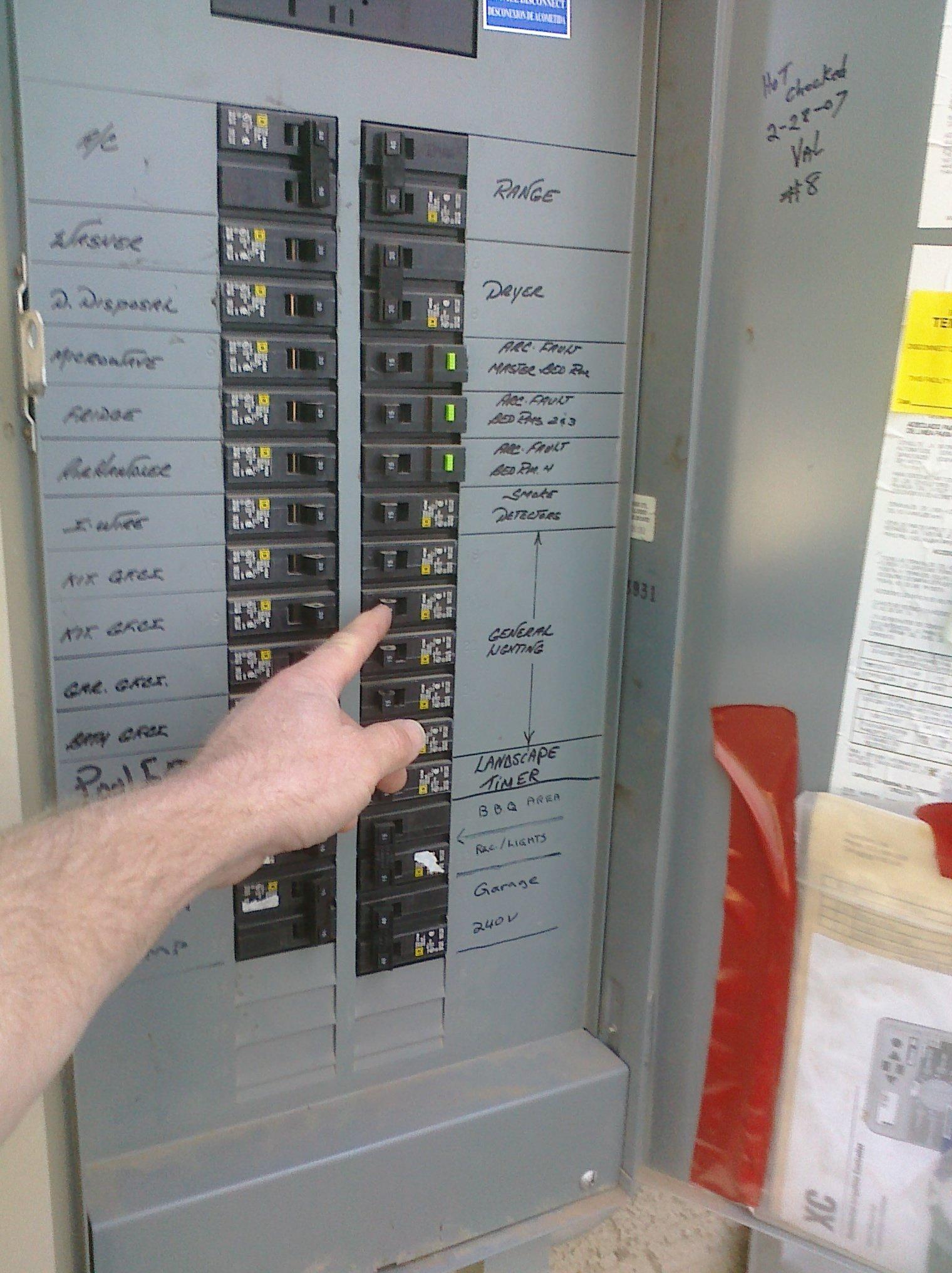 hight resolution of shutting off breaker