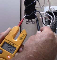using my fluke t1000 multi meter i checked for voltage and i had 120v on the terminals identified as the line terminals testing from hot black wire on  [ 1920 x 1080 Pixel ]