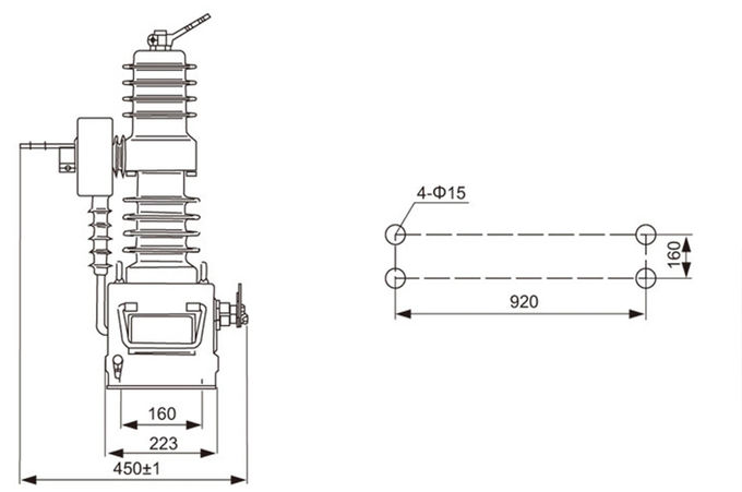 AC Pole Mounted Vacuum Circuit Breaker For Power System