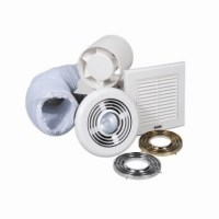 "4""In-line extractor fan shower kit with light and timer"
