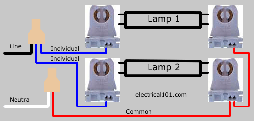 Lampholder Wiring Diagram Direct Wire Dual Ended Led Tube Lights 2 Lamps