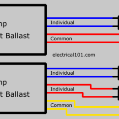 Dimming Ballast Wiring Diagram Trane Weathertron Baystat 239 Thermostat Series 1 To 3 Lamps - Electrical 101