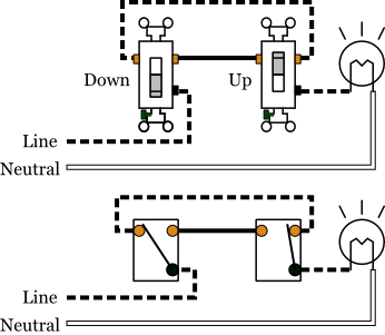 4 Way Switching Wiring Diagram 4-Way Circuit Diagram