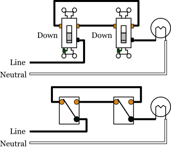 wiring three way switch diagram architectural types 3 switches electrical 101 light 1