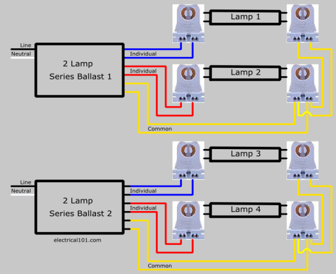 wiring fluorescent lights in parallel diagram wiring diagram fluorescent light wiring diagram for ballast and