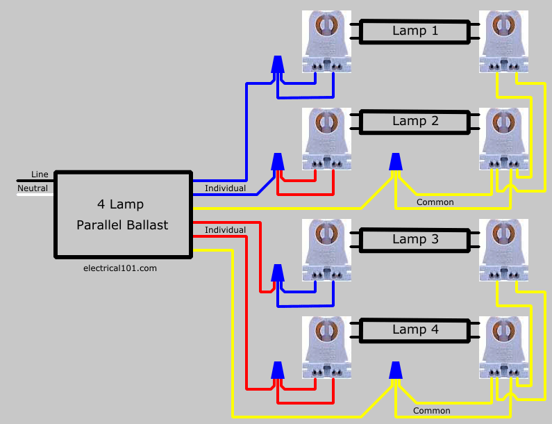 Lampholder Wiring Diagram How To Replace Two 2 Lamp Seriesl Ballast With Parallel