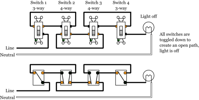 Way Switch Wiring Diagram on Leviton Dimmer Switch Wiring Diagram