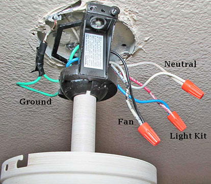 ceiling fan junction box wiring diagram