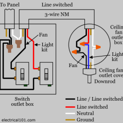 Ceiling Fan Wiring Diagram Separate Switches Radio For 1994 Toyota Pickup Wire Data Switch Electrical 101 Construction