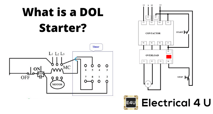 Draw The 3 Phase Dol Motor Starter Control Circuit Diagram