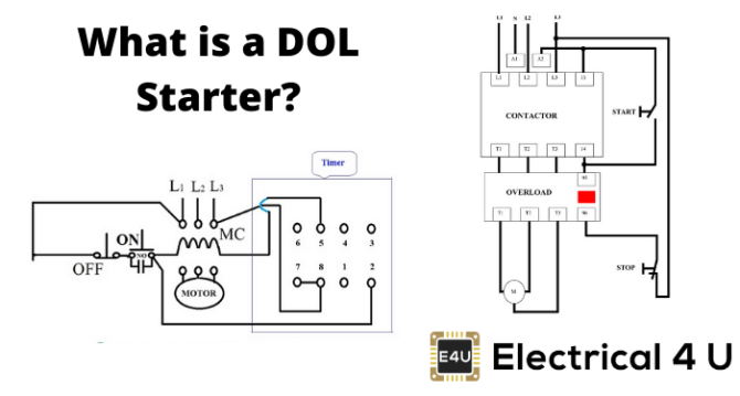 dol starter direct online starter wiring diagram
