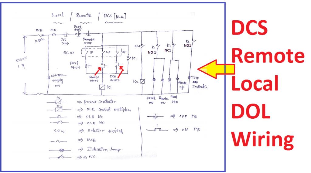 3 Phase Control Transformer Wiring Diagram Cheap Dol Starter Dcs Remote Local Start Stop Electrical4u