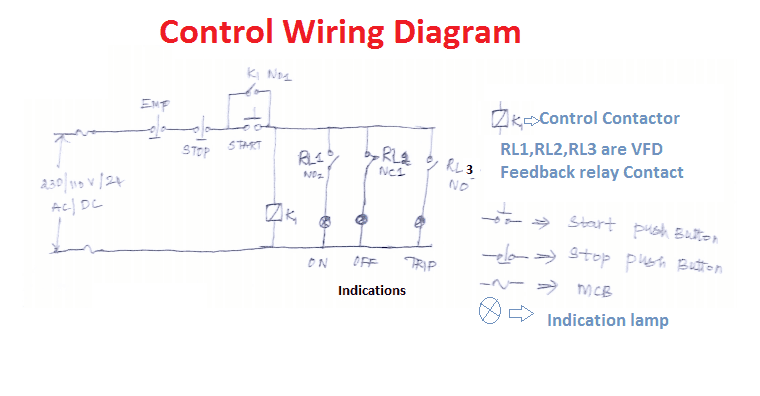 vfd control wiring diagram circuit start stop electrical4u here mcb uses to the input supply into