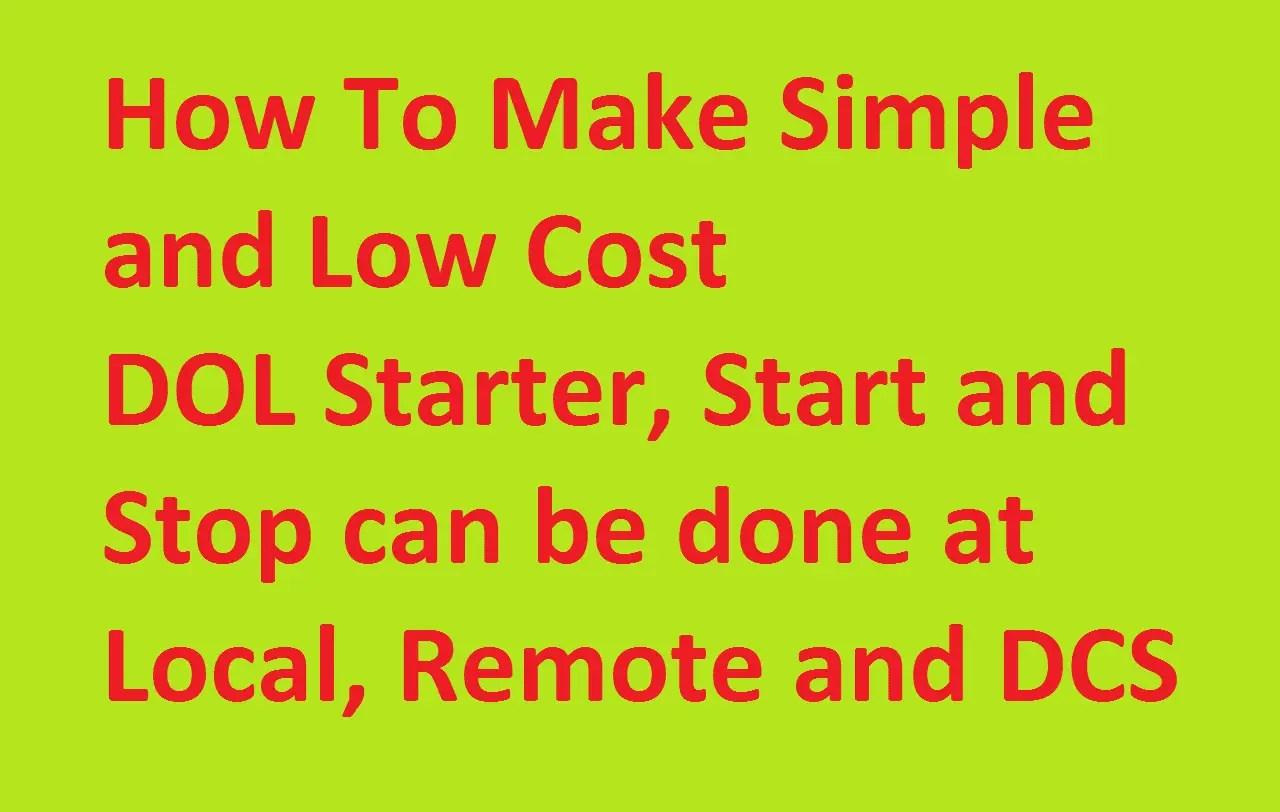 hight resolution of l t dol starter circuit diagram