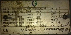 DC Motor Nameplate Details Explantion | Electrical4u