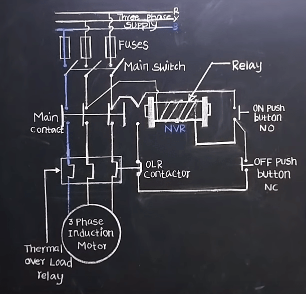 dol starter wiring diagram 2  electrical4u