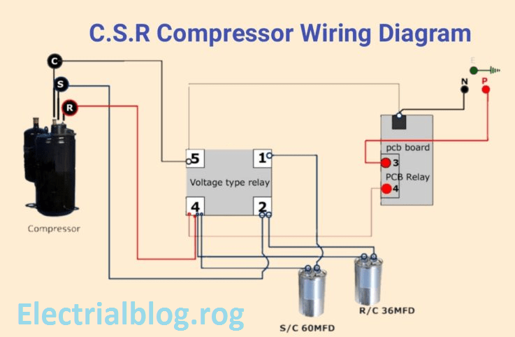 Diagram Database Just The Best, Compressor Wiring Diagram Single Phase